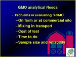 gmo analytical needs