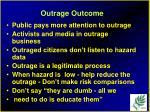 outrage outcome