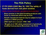 the fda policy