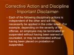 corrective action and discipline important disclaimer