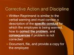 corrective action and discipline96