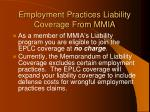 employment practices liability coverage from mmia
