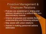 proactive management employee relations