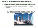 discount rates for foreign investments 12