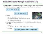 discount rates for foreign investments 18