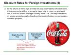 discount rates for foreign investments 6