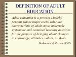 definition of adult education