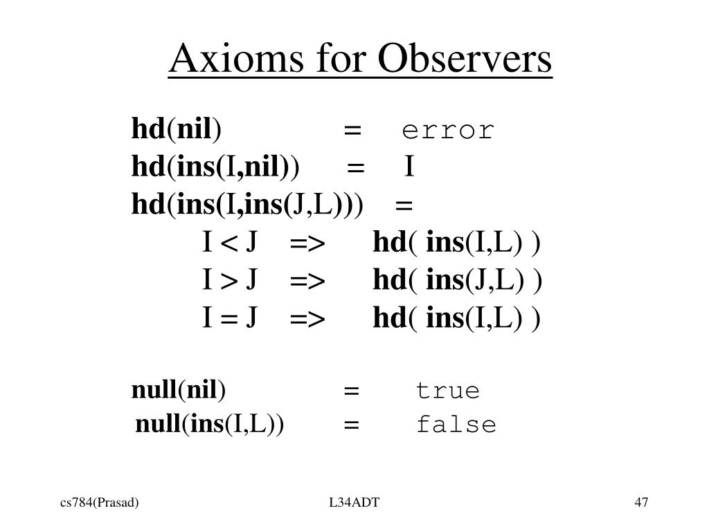 Axioms for Observers