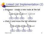 linked list implementation 2