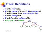 trees definitions