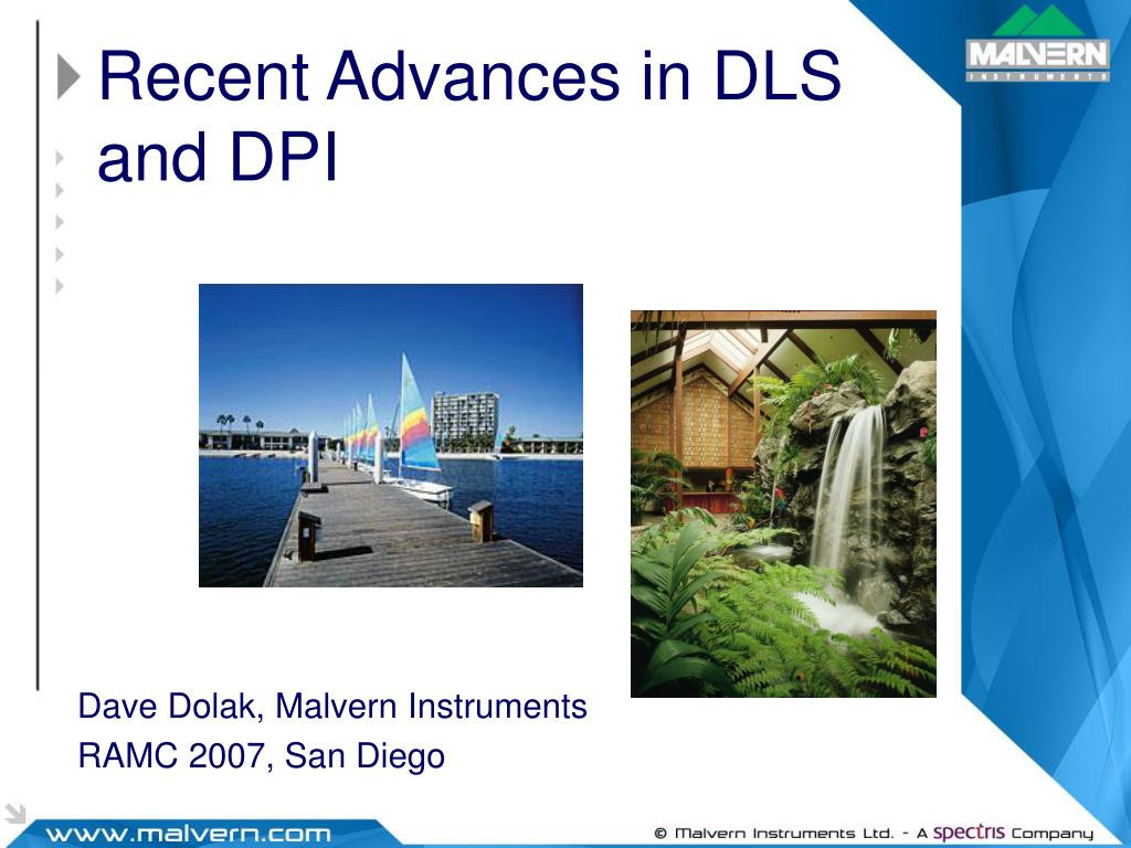 recent advances in dls and dpi l.