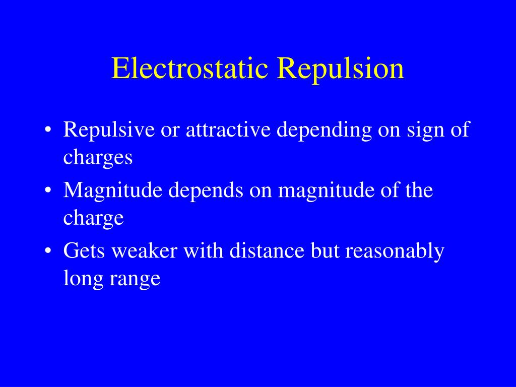 Electrostatic Repulsion