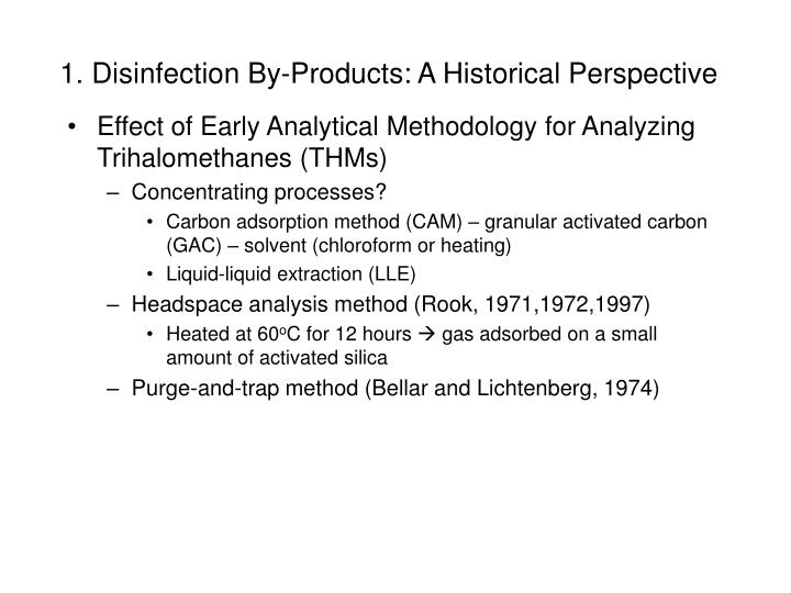 1 disinfection by products a historical perspective n.