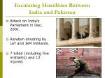 escalating hostilities between india and pakistan4