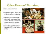 other forms of terrorism