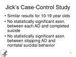 jick s case control study2