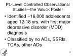 pt level controlled observational studies the valuck poster