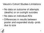 valuck s cohort studies limitations1