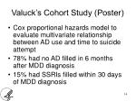valuck s cohort study poster