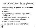 valuck s cohort study poster3