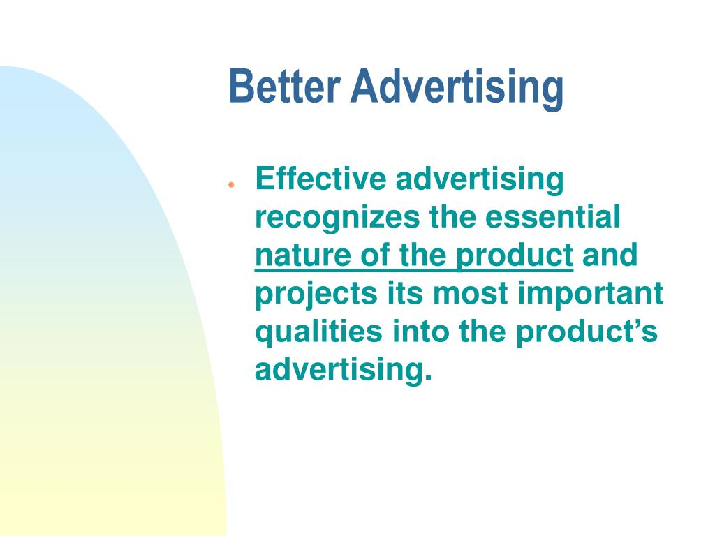 Better Advertising