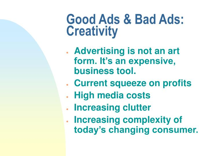 Good ads bad ads creativity2