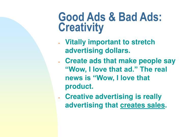 Good ads bad ads creativity3