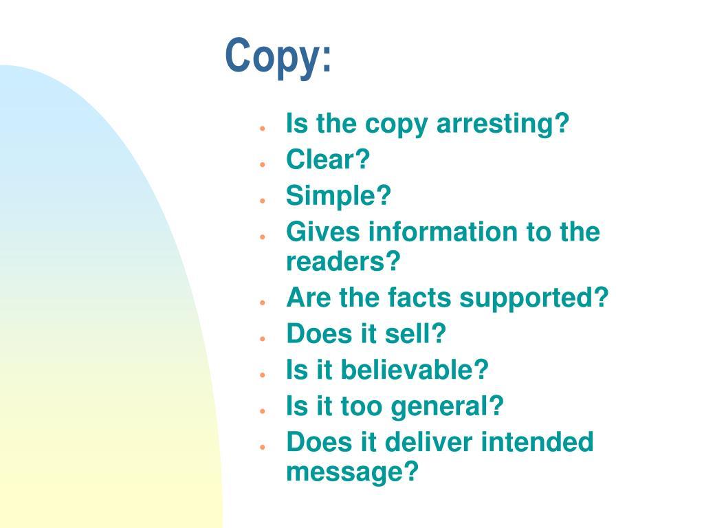 Copy:
