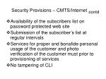 security provisions cmts internet contd