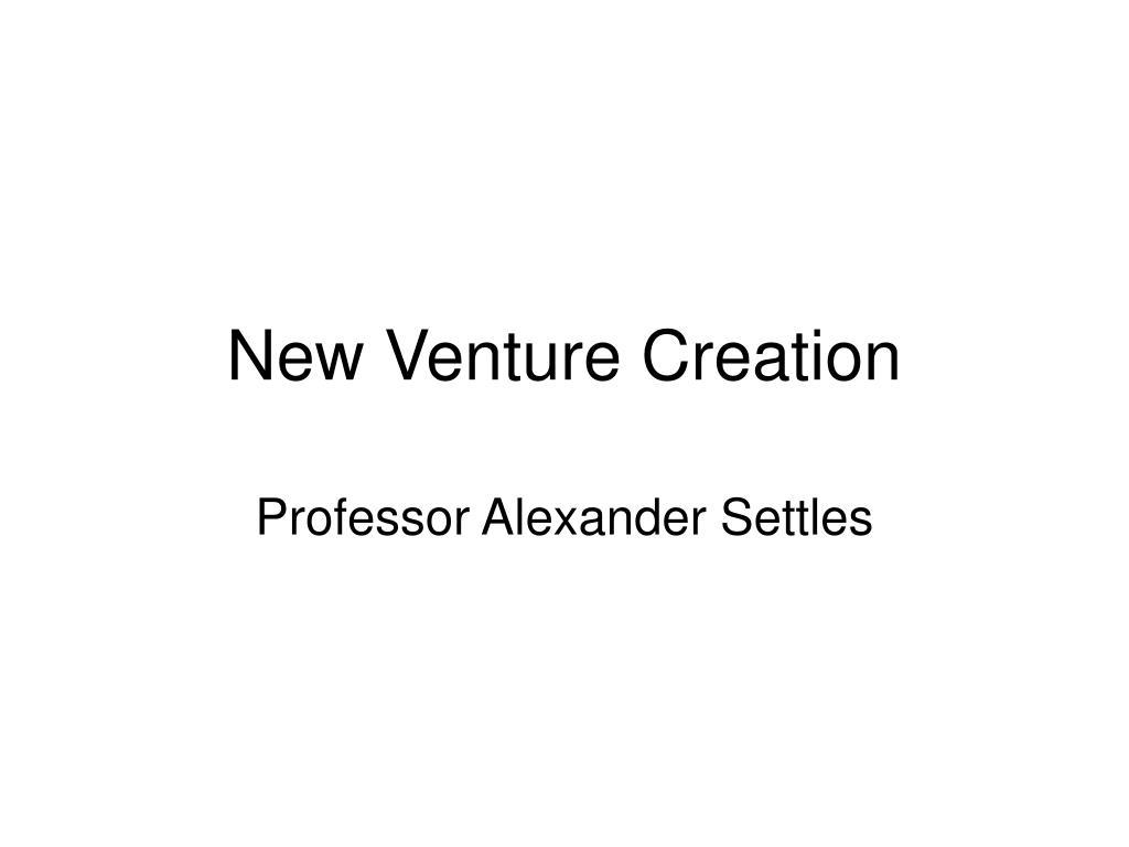 new venture creation l.