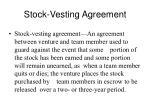 stock vesting agreement