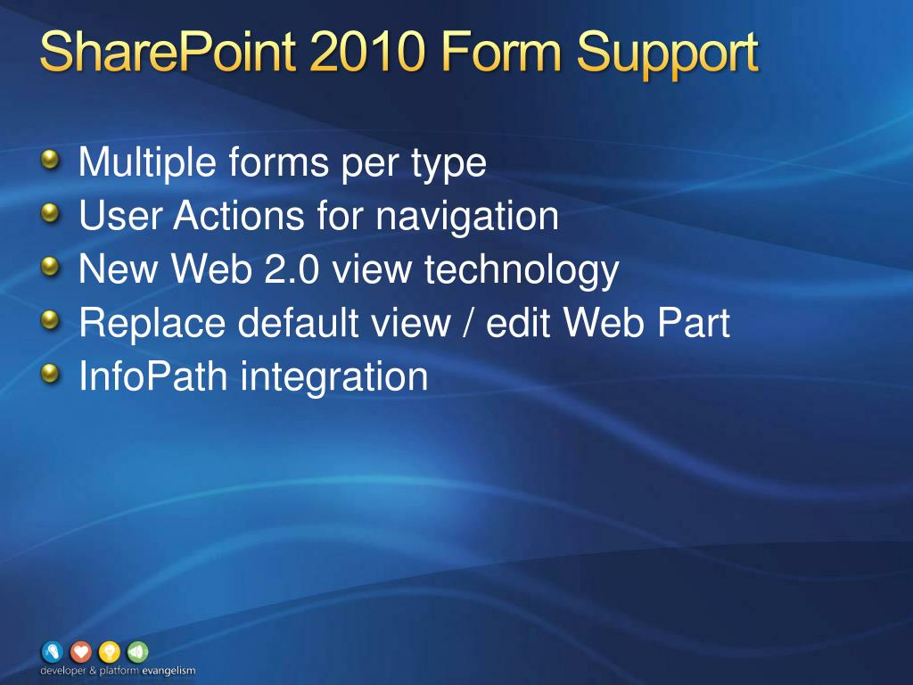 SharePoint 2010 Form Support