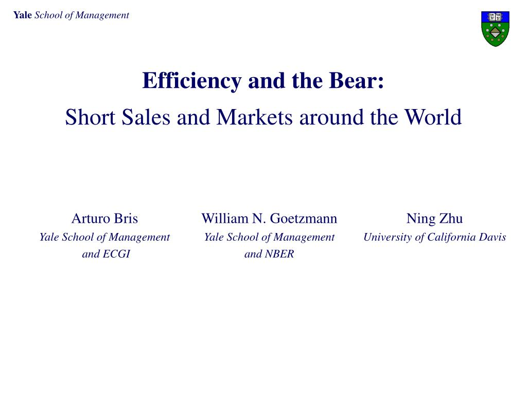 Efficiency and the Bear:
