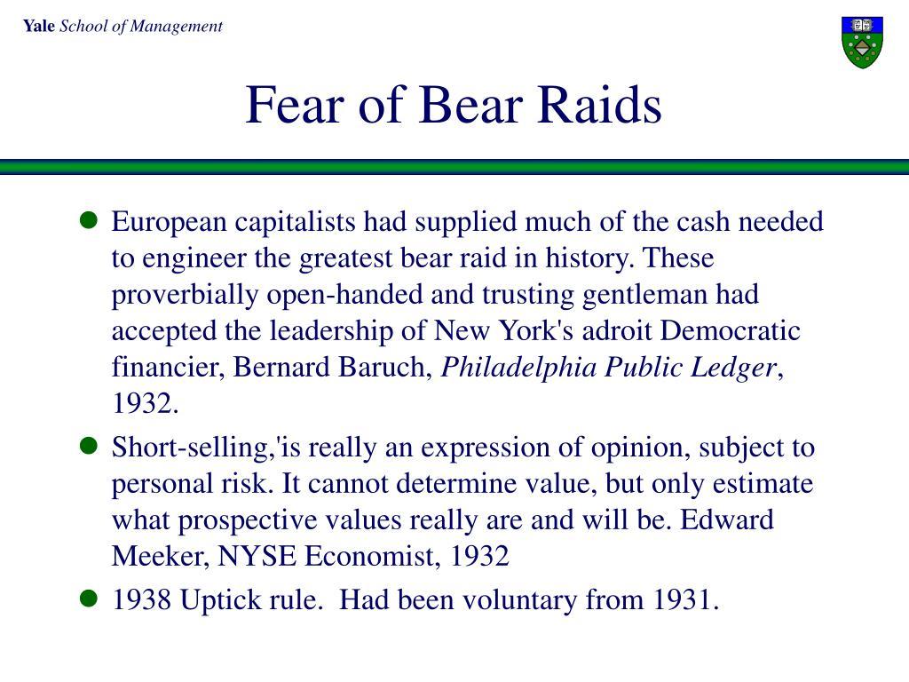 Fear of Bear Raids