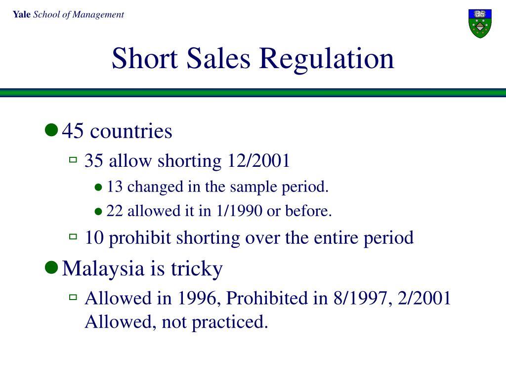 Short Sales Regulation