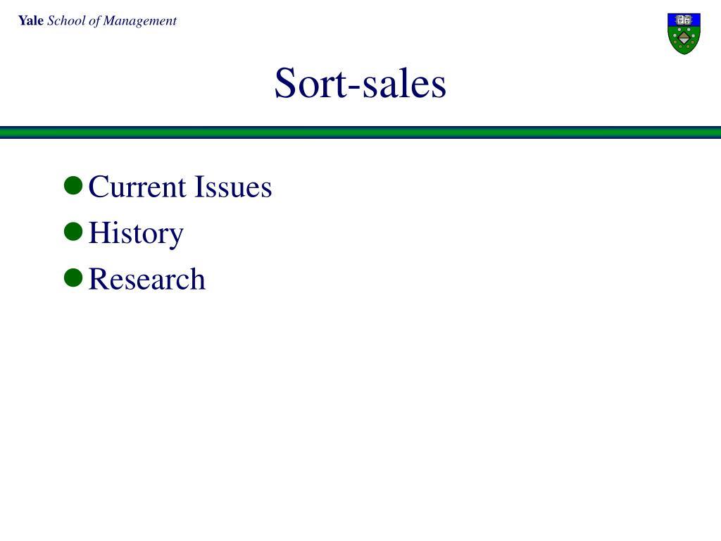 Sort-sales