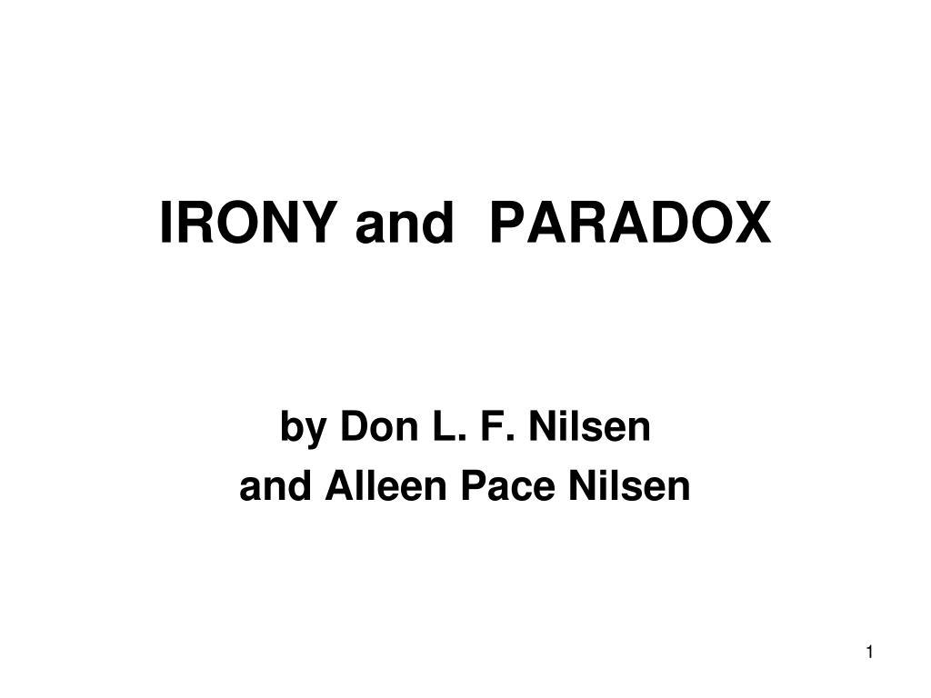 irony and paradox l.