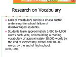 research on vocabulary7