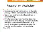 research on vocabulary8