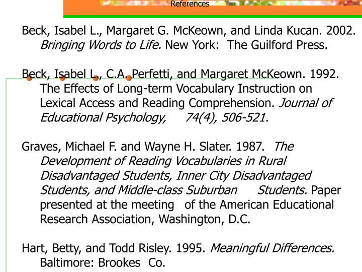 bringing reading research to life mckeown margaret g kucan linda