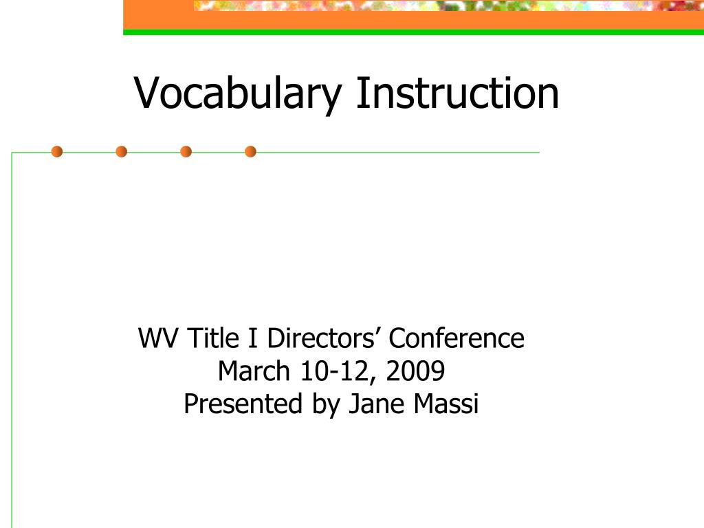 vocabulary instruction l.