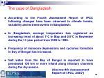 the case of bangladesh