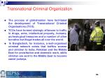 transnational criminal organization