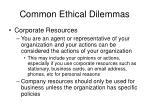 common ethical dilemmas40