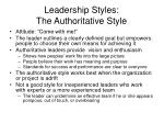 leadership styles the authoritative style