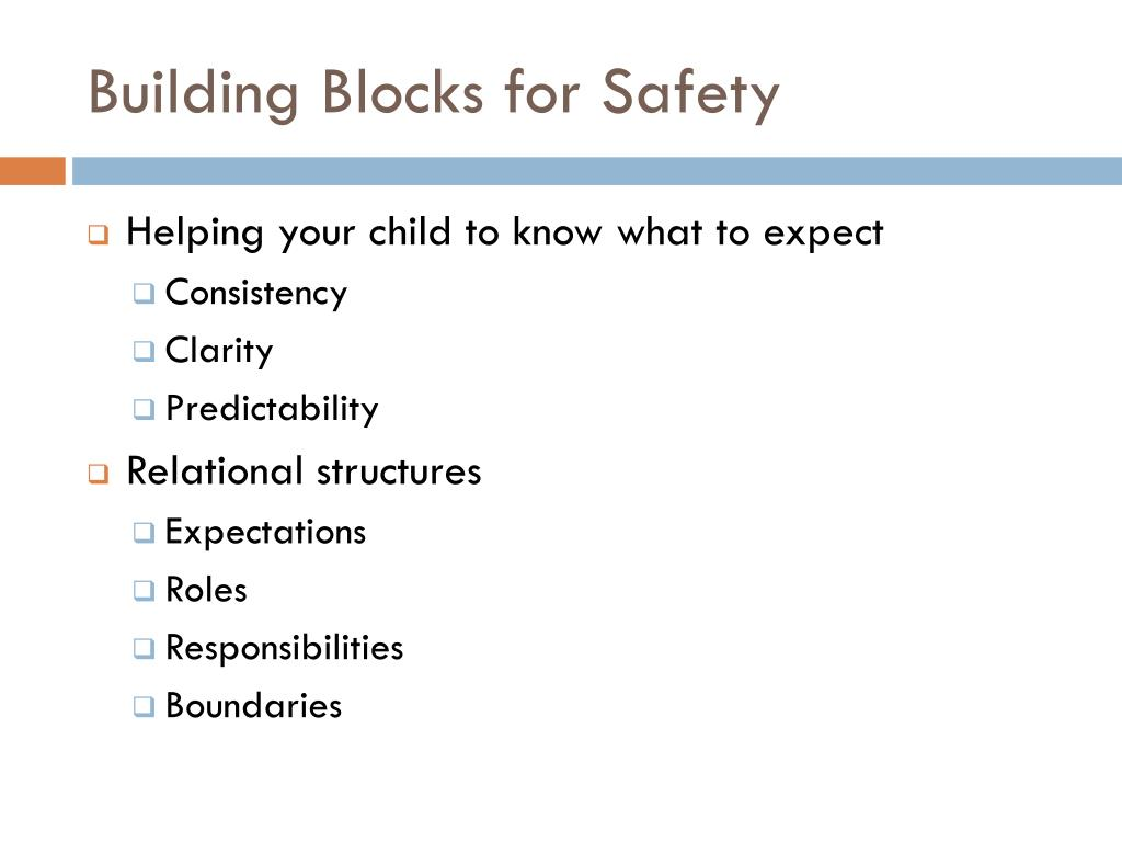 Building Blocks for Safety