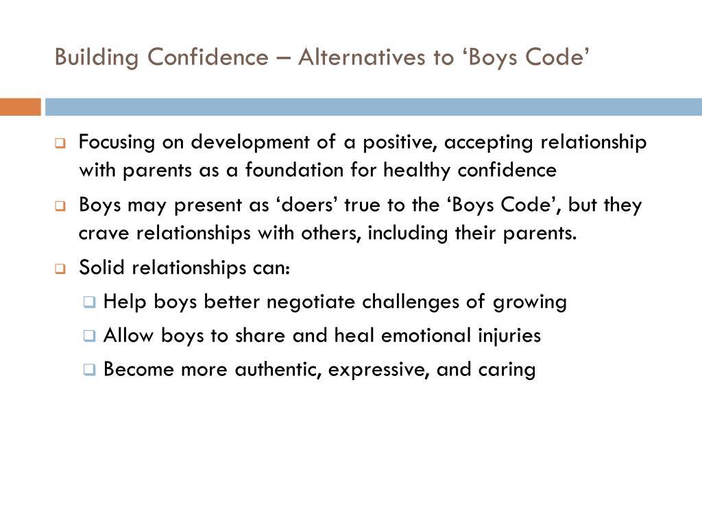 Building Confidence – Alternatives to 'Boys Code'