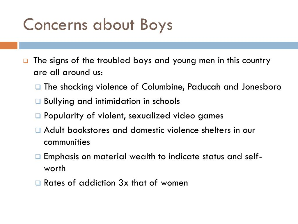 Concerns about Boys