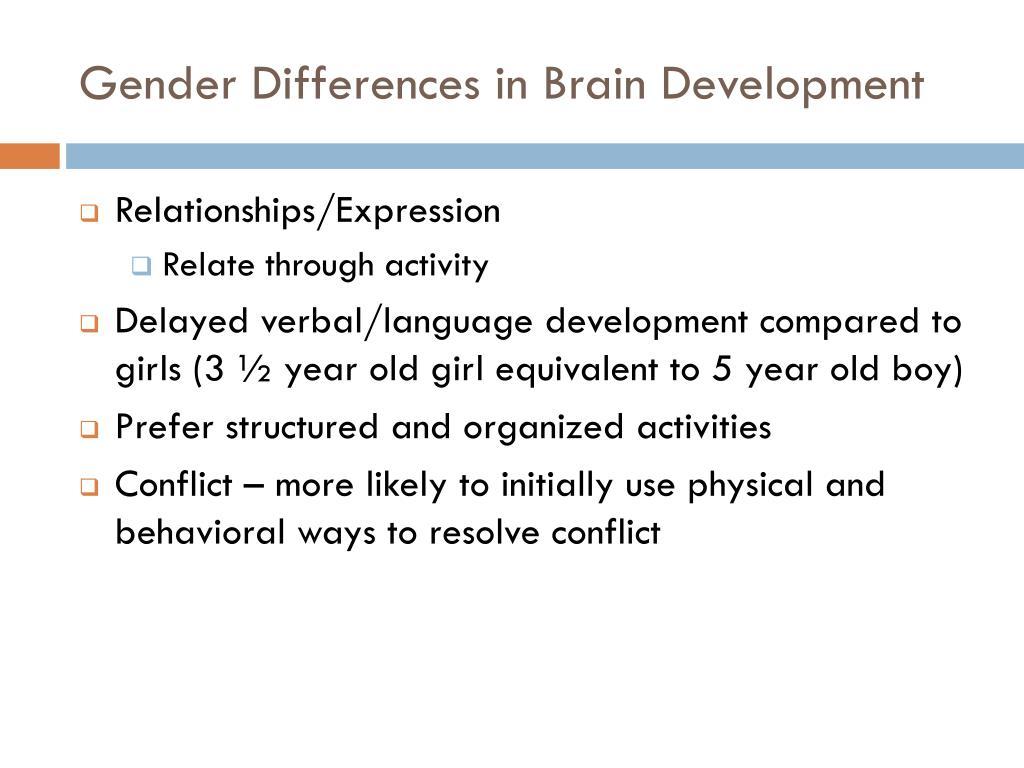 Gender Differences in Brain Development