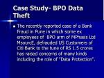 case study bpo data theft